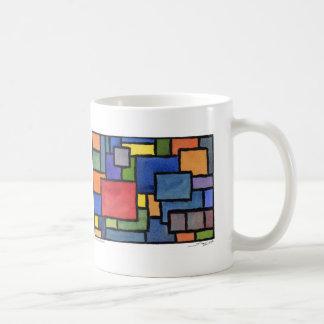 "Autumn Lake ""SWANKY SQUARES"" Coffee Mug"