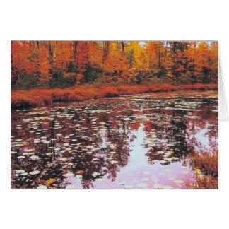 Autumn Lake View Card