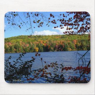 Autumn Lake View Mouse Pad