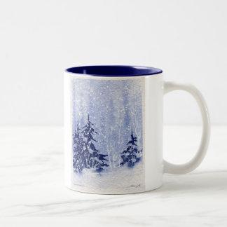 "Autumn Lake ""WINTER PINES"" Coffee Mug"