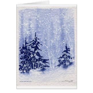 """Autumn Lake """"WINTER PINES"""" Greeting Card"""