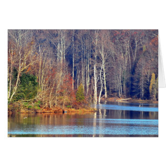 Autumn Lakeside Card - add personal message