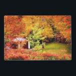 """Autumn Landscape 2 Placemat<br><div class=""""desc"""">Cabins in the middle of Red and orange colored trees &#169; and &#174; Bigstock&#174; - All Rights Reserved.</div>"""
