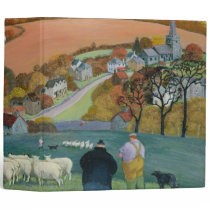 Autumn Landscape 3 Ring Binder