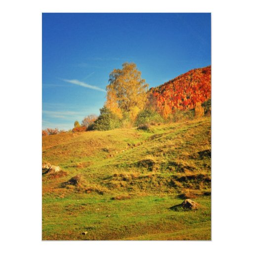 "Autumn landscape 6.5"" x 8.75"" invitation card"