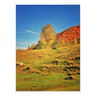 Autumn landscape 6.5x8.75 paper invitation card