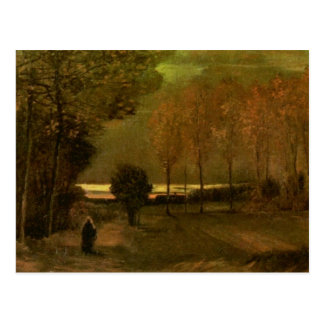 Autumn Landscape at Dusk, Vincent van Gogh Postcard