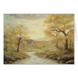 Autumn Landscape Blank Card