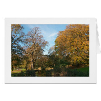 Autumn Landscape, Bute Park, Cardiff (Bordered) Greeting Card