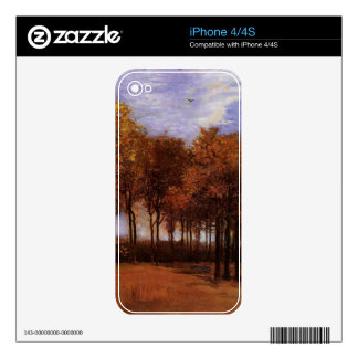 Autumn Landscape by Van Gogh. Skin For iPhone 4