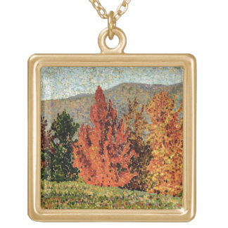 Autumn Landscape, c.1903 (oil on canvas) Gold Plated Necklace