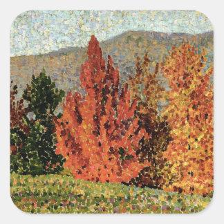 Autumn Landscape, c.1903 (oil on canvas) Square Sticker