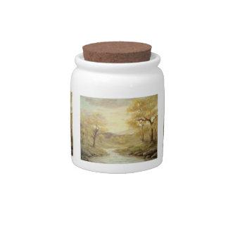 Autumn Landscape Candy Jar