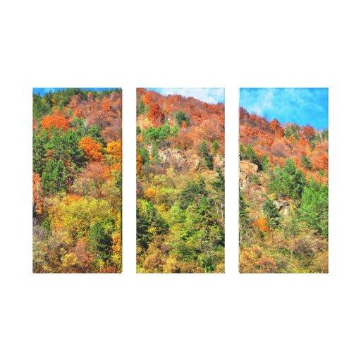 Autumn landscape stretched canvas print
