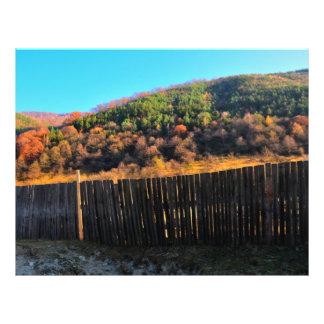 Autumn landscape full color flyer
