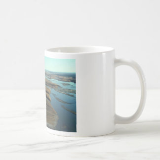 AUTUMN LANDSCAPE IN SWAMP WITH TREES IN FALL COLOR CLASSIC WHITE COFFEE MUG