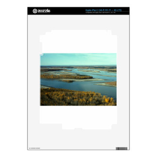 AUTUMN LANDSCAPE ON THE RIVER SURROUNDED BY TREES iPad 3 DECAL