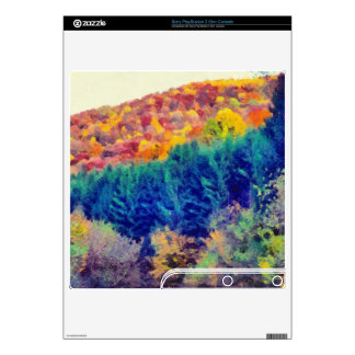 Autumn landscape painting decal for PS3 slim