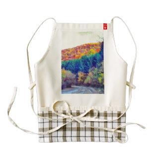 Autumn landscape painting zazzle HEART apron