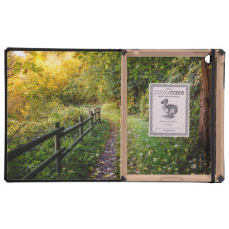Autumn Landscape, Pathway In A Forest Case For iPad