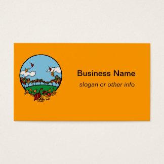 Autumn Landscape Scene Business Card