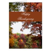 Autumn Landscape Thanksgiving Card