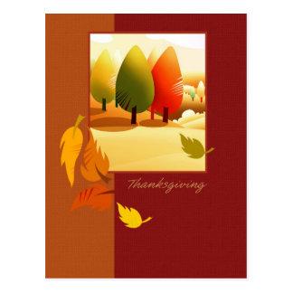 Autumn Landscape Thanksgiving Postcards