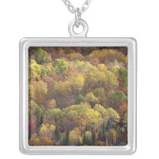 Autumn landscape, Vermont, USA 2 Square Pendant Necklace