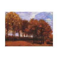 Autumn Landscape, Vincent van Gogh Gallery Wrap Canvas