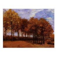 Autumn landscape, Vincent  van Gogh Postcards