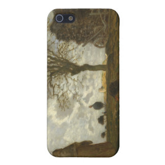 Autumn Landscape with a Flock of Turkeys - Millet Cover For iPhone SE/5/5s