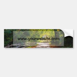Autumn Landscape With A Road Car Bumper Sticker
