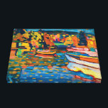 """Autumn Landscape with Boats by Wassily Kandinsky Canvas Print<br><div class=""""desc"""">Autumn Landscape with Boats by Wassily Kandinsky. Please visit my store for more interesting design and more color choice. =&gt; zazzle.com/colorfulworld*</div>"""