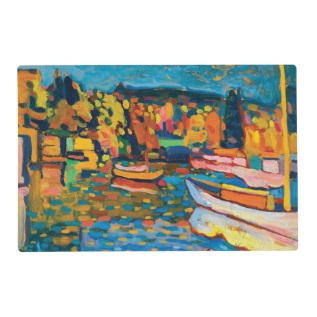Autumn Landscape With Boats By Wassily Kandinsky Placemat at Zazzle