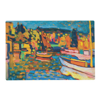 Autumn Landscape with Boats by Wassily Kandinsky Placemat