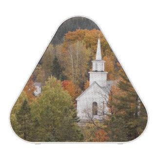 Autumn landscape with church, Vermont, USA Speaker