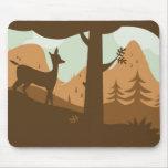 Autumn Landscape with Deer Mouse Pads