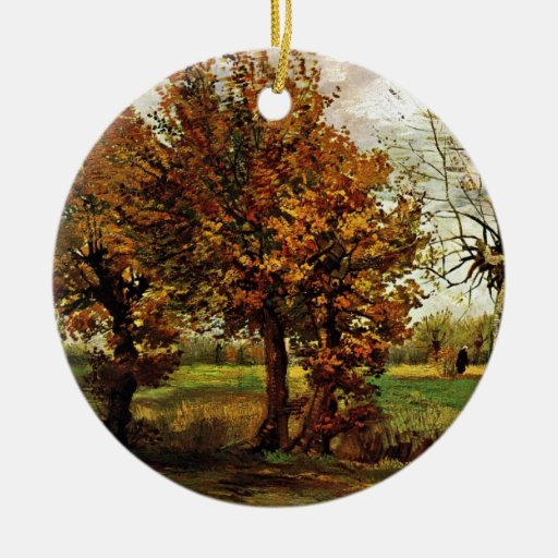 Autumn Landscape with Four Trees by van Gogh Ornament