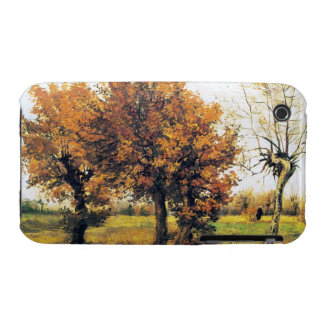 Autumn Landscape with Four Trees iPhone 3 Cases