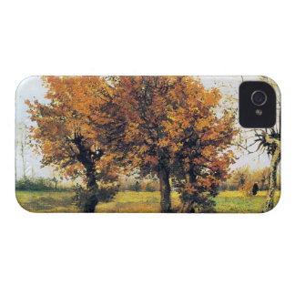 Autumn Landscape with Four Trees iPhone 4 Case-Mate Case