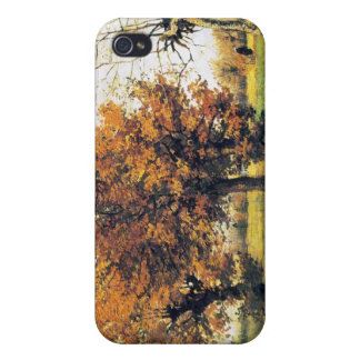 Autumn Landscape with Four Trees iPhone 4 Cover