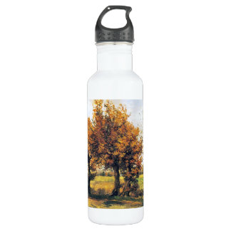 Autumn Landscape with Four Trees 24oz Water Bottle
