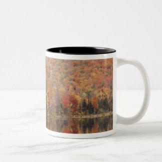 Autumn landscape with lake, Vermont, USA 2 Two-Tone Coffee Mug