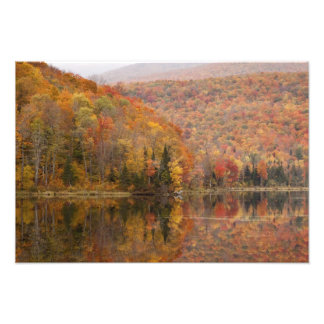 Autumn landscape with lake, Vermont, USA 3 Photo Print