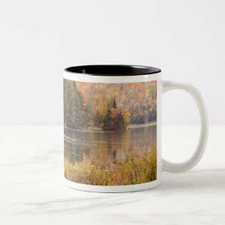 Autumn landscape with lake, Vermont, USA 3 Two-Tone Coffee Mug