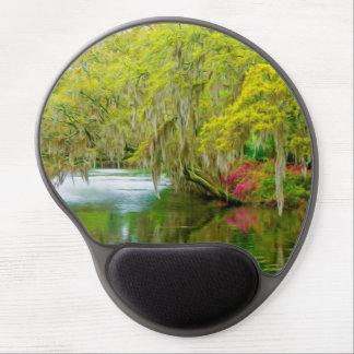 Autumn landscape with trees and river 2 gel mouse pad