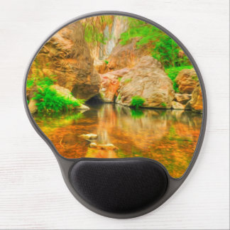 Autumn landscape with trees and river gel mouse mats