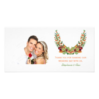 Autumn Laurel Fall Wedding Card