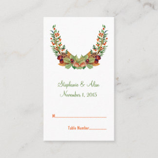 Autumn Laurel Fall Wedding Place Cards