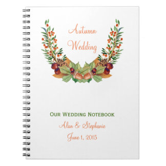 Autumn Laurel Fall Wedding Planning Notebook